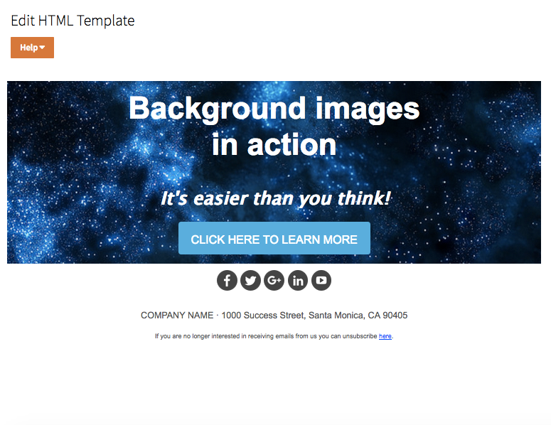 How To Add Background Images To Emails Welcome To The Resci Help
