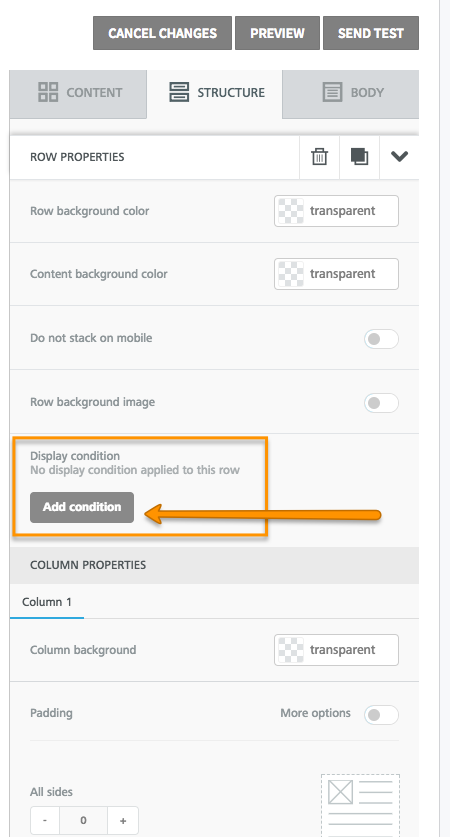 Display Conditions in Drag & Drop Template Builder – Welcome
