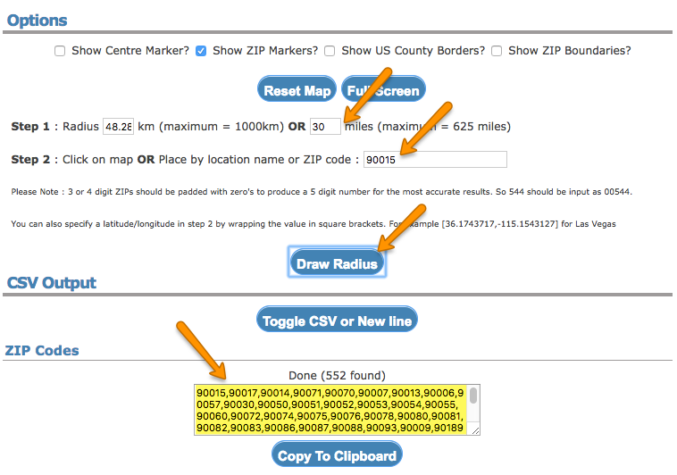 Using the Zip Code Filter Condition – Welcome to the ReSci Help Center